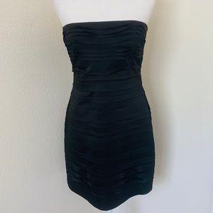BCBG bcbgmaxazria black satin mini dress